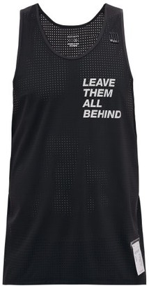 Satisfy Race Perforated Performance Tank Top - Black