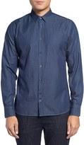 J. Lindeberg Men's Daniel Ca Slim Fit Print Indigo Sport Shirt
