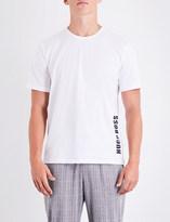 BOSS Logo-print stretch-cotton T-shirt