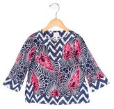 Milly Minis Girls' Abstract Print Long Sleeve Top