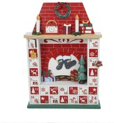 Kurt Adler C6207 Wooden Chimney Christmas Advent Calendar with Ornaments, 15-Inch