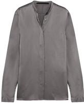 Haider Ackermann Silk-satin Shirt - Gray