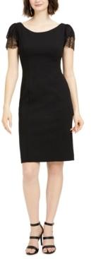 Jessica Howard Petite Glitter-Sleeve Sheath Dress