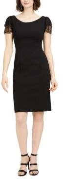 Jessica Howard Ruffle-Sleeve Sheath Dress
