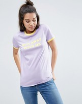 Asos T-Shirt With Run Away With Me And Tipping