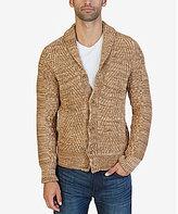 Nautica Mixed Knit Shawl Collar Cardigan