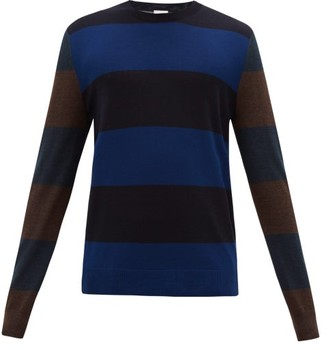 Paul Smith Striped Wool-blend Sweater - Navy