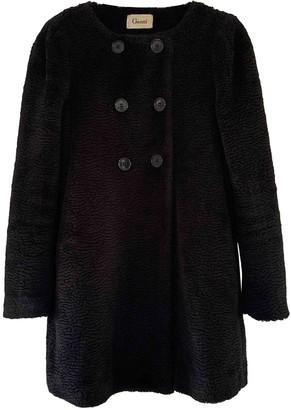 Ganni Black Faux fur Coats