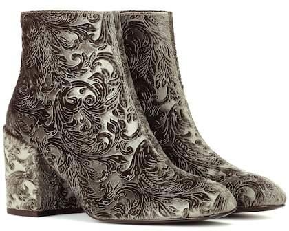 Stuart Weitzman Mona devoré ankle boots