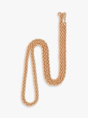 Susan Caplan Vintage Gold Plated Spiga Chain Necklace, Gold