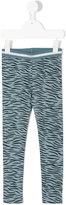 Stella McCartney tiger print leggings - kids - Cotton/Elastodiene/Polyamide/Metallic Fibre - 2 yrs