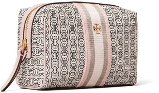 Tory Burch Gemini Link Canvas Small Cosmetic Case