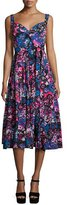 Marc Jacobs Daisy-Doodle Sleeveless Midi Dress, Black/Multi