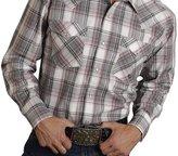Roper Western Shirt Mens Long Sleeve Snap LT 03-001-0778-4021 GY