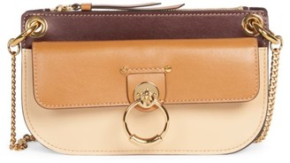 Chloé Mini Tess Colorblock Leather Crossbody Bag