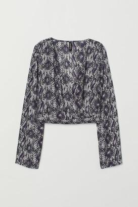 H&M Short wrapover blouse
