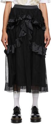 Simone Rocha Black Tulle Skeleton Skirt