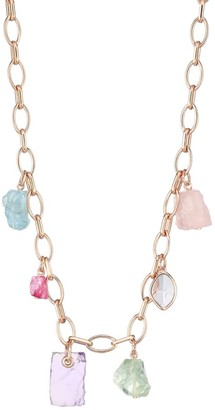 Monica Vinader 18K Rose Goldplated Sterling Silver & Multi-Gemstone Charm Necklace