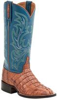 Lucchese Genuine Croc Skin Western Boot