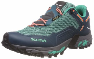 Salewa WS Speed Beat Gore-TEX Trail Running Shoes Women's Green (Shaded Spruce/Fluo Coral) 5 UK
