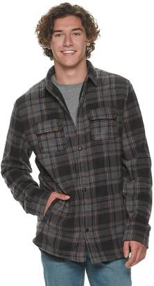 Men's Urban Pipeline Sherpa Lined Polar Fleece Shirt Jacket