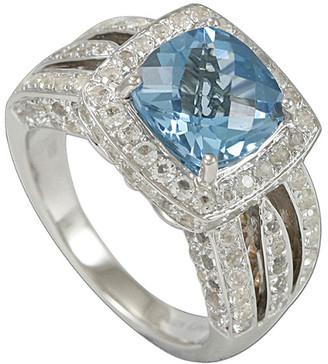 Suzy Levian Diamonds Suzy Levian Silver 6.21 Ct. Tw. Diamond & Topaz Ring