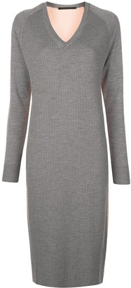 Haider Ackermann Ribbed Knit Jumper Dress
