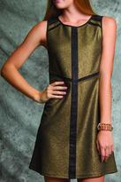 Ya Los Angeles Gold Accent Dress