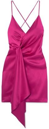 Silk Halter Neck Dress Pink
