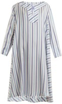 Thierry Colson Samia Silk-ottoman Cover-up - Womens - Blue Stripe