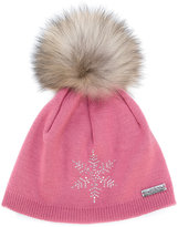 Norton Co. pom pom snowflake hat
