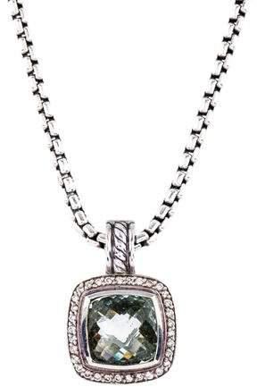 David Yurman Prasiolite & Diamond Albion Pendant Necklace
