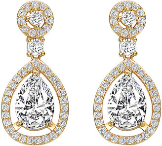 Genevive 14K Over Silver Cz Earrings