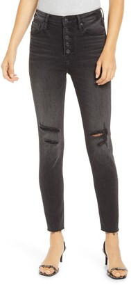 Vigoss Ace Ripped High Waist Ankle Skinny Jeans