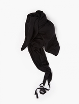 Thom Krom Black Raw-edged Jersey Scarf