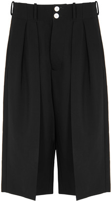 Plan C Black tailored woven shorts