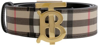 Burberry Canvas Belt With Logo