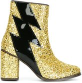 House of Holland glitter effect thunder boots - women - Leather/PVC/rubber - 36