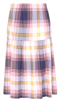 See by Chloe Checked cotton skirt