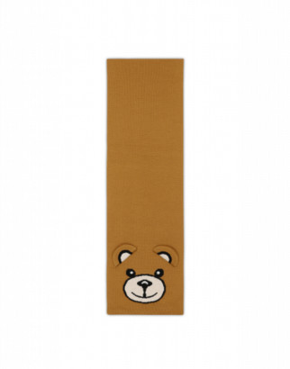 Moschino Teddy Bear Scarf Woman Brown Size Single Size