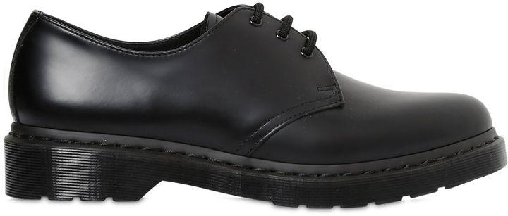 Dr. Martens 3-Tie Shoe Leather Lace-Up Shoes
