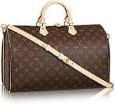 Louis Vuitton Monogram Canvas Crosss Body Leather Handles Handbag Speedy Bandouliere 40 Article: M41110