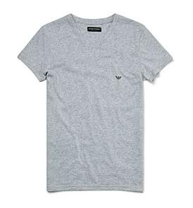 Emporio Armani Melange Cotton Stretch V-Neck T-Shirt