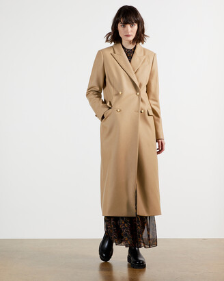 Ted Baker YECARA Double Breasted Peaked Lapel Coat