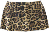 Leopard-Print Skirted Bikini Swimsuit Bottom