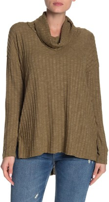 Abound Cowl Neck Ribbed Tunic Sweater