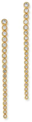 Bloomingdale's Diamond Milgrain Bezel Set Drop Earrings in 14K Yellow Gold, 1.0 ct. t.w. - 100% Exclusive