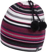Ibex Stripe Double Pom Beanie - Merino Wool (For Women)