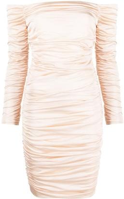 Alexandre Vauthier Ruched Off-Shoulder Mini Dress