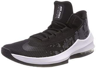 Nike Men's Air Max Infuriate 2 Mid Aa7066-001 Low-Top Sneakers, (Black/White/Anthracite 001)